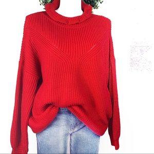 FANTASTIC FAWN drop shoulder knit oversized top